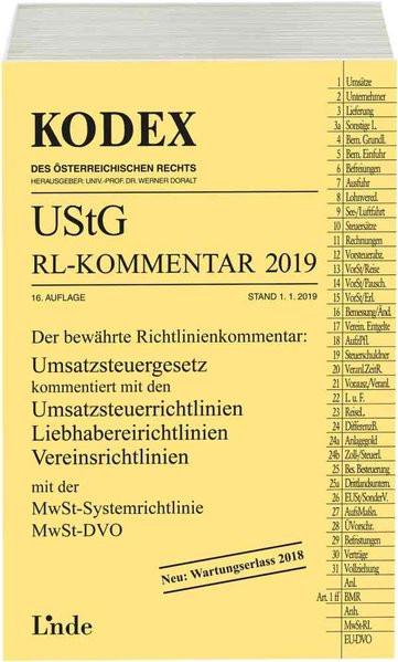 KODEX UStG-Richtlinien-Kommentar 2019 (Kodex des Österreichischen Rechts)